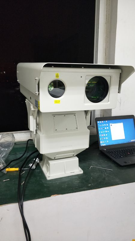 IP66 Long Range Infrared Camera , Thermal Surveillance Camera 3km Laser Illuminator